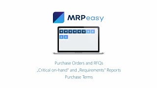 Procurement Management for Manufacturing