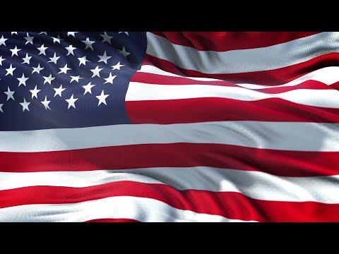 USA Flag 5 Minutes Loop - FREE 4k Stock Footage - Realistic American Flag Wave Animation
