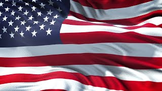 USA Flag 5 Minutes Loop - FREE 4k Stock Footage - Realistic American Flag Wave Animation