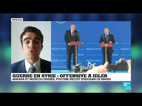 Offensive à Idleb : Recep Tayyip Erdogan à Moscou pour évoquer la Syrie