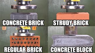 How Strong are Bricks? Hydraulic Press Test!