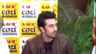 Ranbir Kapoor promoting BESHARAM and Lux Cozi