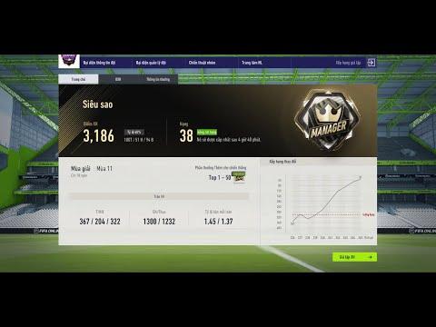Fifa Online 4   Leo Siêu Sao Giả Lập Xếp Hạng Bằng Đội Hình 532