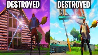FORTNITE LOCATIONS ARE STARTING TO GET DESTROYED! LONELY LODGE & MORE SUCKED INTO BLACK HOLE!