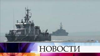 В Финском заливе прошла первая тренировка военно-морского парада, который состоится в Петербурге.