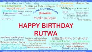 Rutwa   Languages Idiomas - Happy Birthday