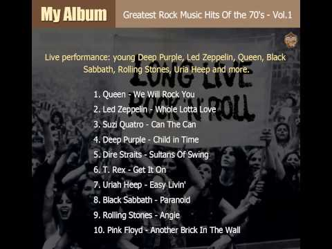 Greatest Rock Music Hits Of the 70's - Vol.1 (full songs)