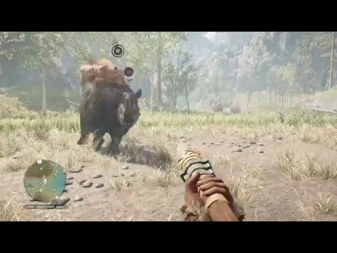 Far Cry Primal: Saber-Toothed cat vs Woolly Rhino