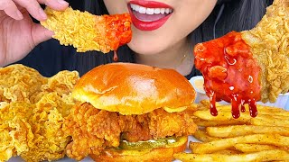 ASMR SPICY FRIED CHICKEN & FRI…