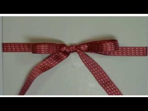 How to tie a bow and knot