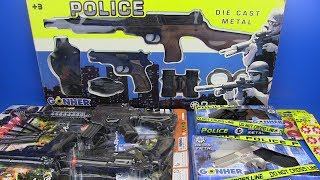 Guns Toys for Kids ! POLICE Set - Video for Kids- SURPRISE TOYS Box of Toys !