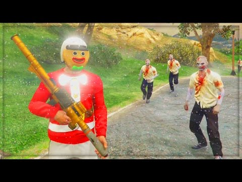 GTA 5 Online Christmas DLC - Zombies Survival GTA Online Challenges! - ...