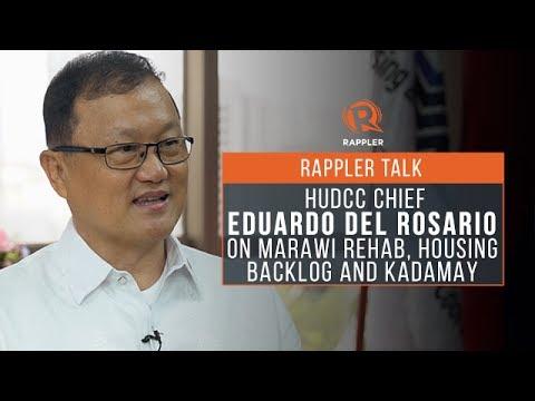 Rappler Talk: HUDCC chief Del Rosario on Marawi rehab, housing backlog, Kadamay