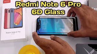 Mi Redmi Note 6 Pro 6D Tempered Glass Better than 5D glass
