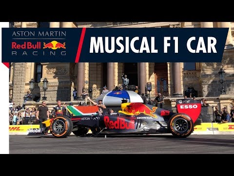 Red Bull Racing F1 car plays South Africa National Anthem!