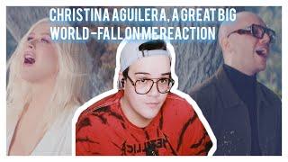 Christina Aguilera, A Great Big World -fall on me REACTION
