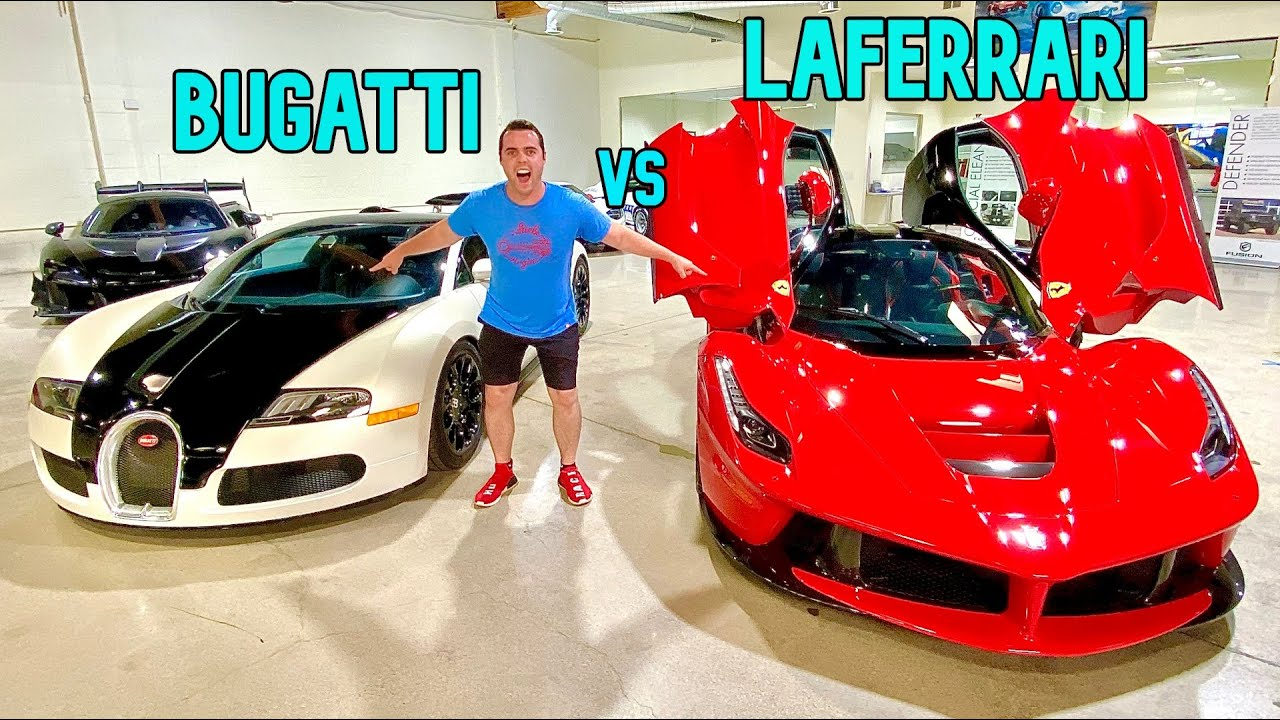$5 MILLION BUGATTI AND LAFERRARI CAR TOUR!!