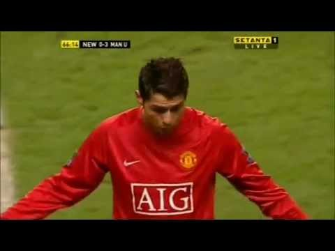 Cristiano Ronaldo Vs Newcastle (Away) 07-08 (English Commentary)
