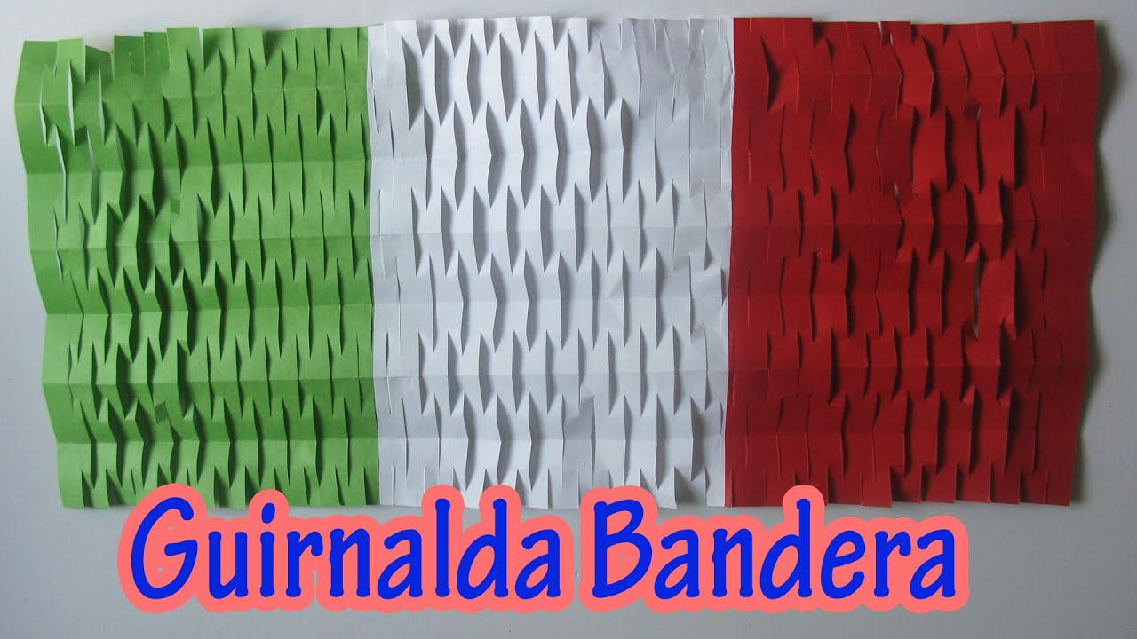 Decoracion Italiana Para Fiestas ~   de Fiestas Patrias  Guirnalda bandera  Manualidades para todos