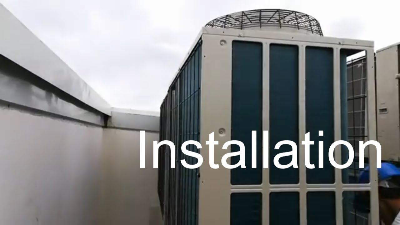 installation vrf air conditioner | mitsubishi heavy | testing and