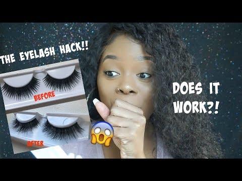 VIRAL MAKEUP HACK: Turn ANY Cheap Lash Into a Mink Lash! Does it work?! | Jamiiiiiiiie