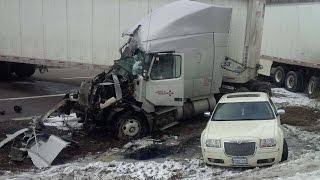 Truck driver describes  401 crash
