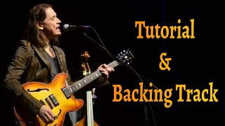 Robben Ford 12 Bar Blues solo_Backing Track + TAB