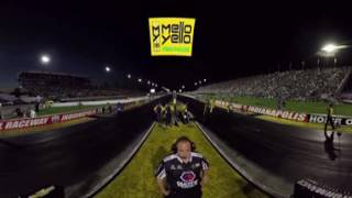 #MelloYello360 Experience Del Worsham's Mello Yello Funny Car run in 360