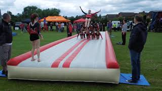 Mickleover Gymnastics Club, Tumble track at Hilton, Derby 1.7.12