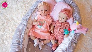 Rutina de todo un día de bebés Reborn y Silicona Jugando con Lindea y Anuk y canciones Infantiles