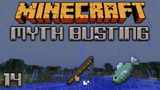 Fishing In The Rain [Minecraft Myth Busting 14]