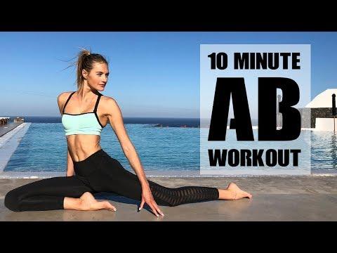 10 Minute Ab Workout | Model Workouts & Abdominals | Sanne Vloet