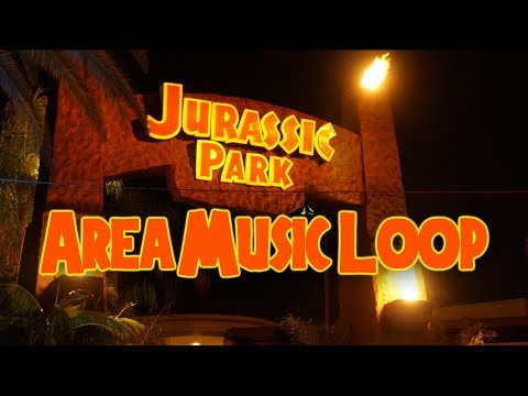 Jurassic Park Music Loop - Lower Lot - Universal Studios Hollywood [Full]