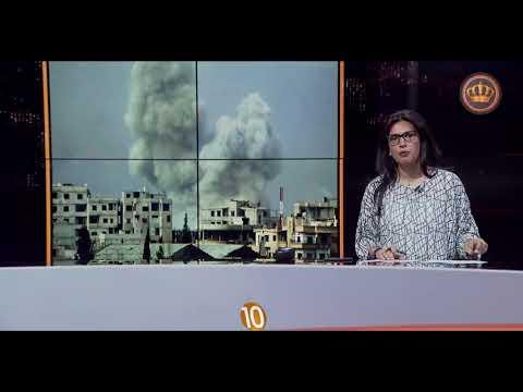 English News at Ten on Jordan Television 07-04-2018