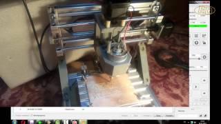 cNC  1610 фрезеровка платы - первый опыт