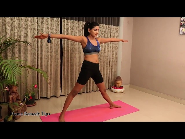 How to do Trikonasana yoga | Triangle pose | How to do triangle pose in Telugu | Trikonasana Telugu