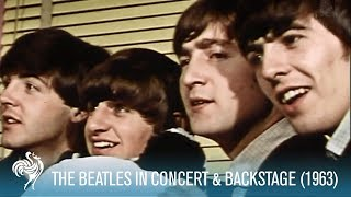 The Beatles Singing in Concert & Backstage w/ the Fab Four (1963) | British Pathé