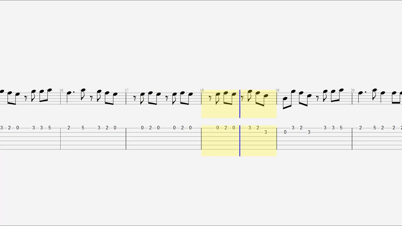 Guitar Tab Notes Chords Zombie Youtube