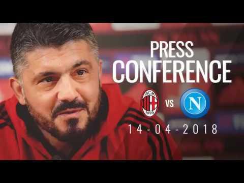 CONFERENZA STAMPA GATTUSO pre MILAN - NAPOLI (15/04/2018)