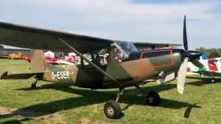 SIAI Marchetti at Cessna O-1 L19 Bird Dog Meeting 2015 Montagnana,... Very cool sound