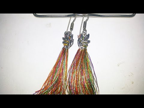 Diy trendy black metal(German silver)earrings//krishna arts