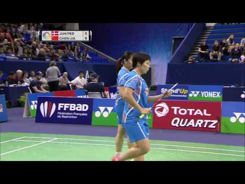 Yonex French Open 2016 | Badminton QF M1-WD | Juhl/Ped vs Chen/Jia