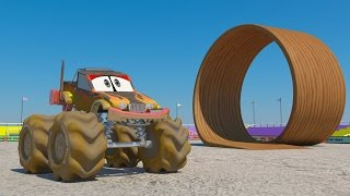 Car Wash 3d | Monster Truck Car Wash | Kids Mp3s | Monster Truck Stunts