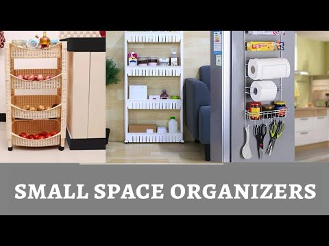 Useful Organizers For Small Space|Corner Space Organization|Small Kitchen Organization|zetajj