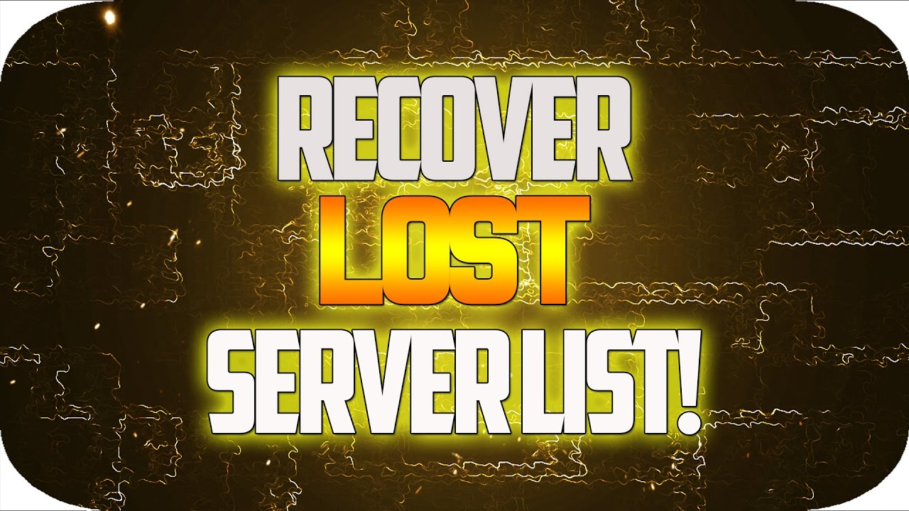 Minecraft: How To Fix | How To Recover Deleted Minecraft Server Lists