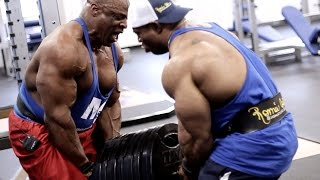 �������� ���� Ronnie Coleman & Cory Mathews Kill Back & Biceps At Muscle & Strength Gym ������