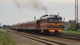 Железная дорога, тепловозы, видео поезда Diesel locomotives, railway video compilation