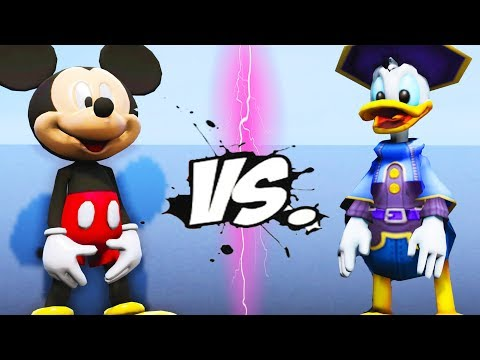MICKEY MOUSE VS DONALD DUCK - EPIC BATTLE