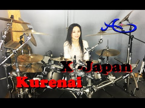 X - JAPAN - Kurenai(紅) drum cover by Ami Kim (29th)