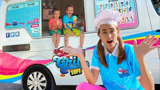 Vlad and Nikita in the Mom's Ice Cream Truck